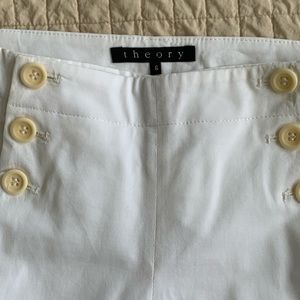 Theory button front sailor size 6